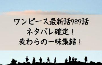 ワンピース最新話989話 ネタバレ確定! 麦わらの一味集結!