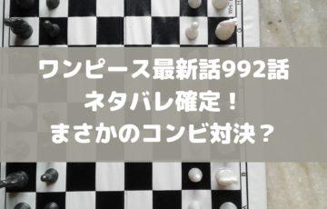 ワンピース最新話992話ネタバレ確定!まさかのコンビ対決?