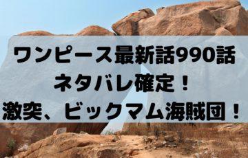 ワンピース最新話990話ネタバレ確定!激突、ビックマム海賊団!